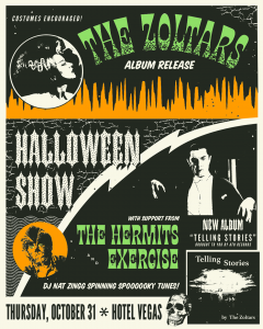 The Zoltars Halloween Album Release! With the Hermits & Exercise