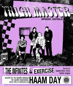 Thigh Master, Aquarian Blood, the infinites, and Exercise