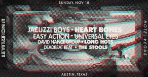 LEVITATION: WOLF EYES / U EYE, JACUZZI BOYS, DAVID NANCE GROUP, DEADBEAT BEAT, EASY ACTION, LONG HOTS, & THE STOOLS w/ HAR MAR SUPERSTAR DJ Set