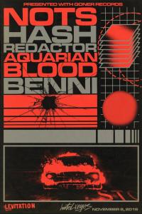 LEVITATION: Goner Records Presents - Nots, Hash Redactor, Aquarian Blood, Benni