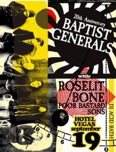 Baptist Generals 20th Anniversary w/Roselit Bone, Poor Bastard Sons