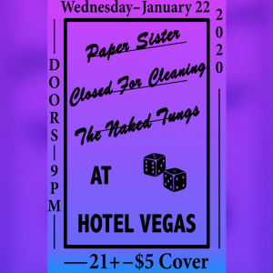 The Naked Tungs, Closed for Cleaning, Paper Sister
