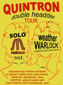 POSTPONED: Quintron Double Header: Weather Warlock and Solo Mellotron Set