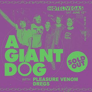 SOLD OUT! A Giant Dog with Pleasure Venom, Dregs