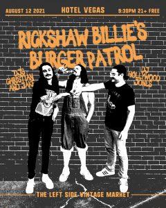 Rickshaw Billies Burger Patrol - FREE on the Patio!