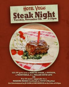 Honky Tonk Steak Night ft. JD Clark & Cory Reinisch